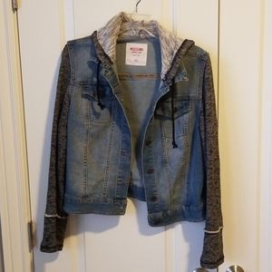 Jean Jacket with T-Shirt Sleeves